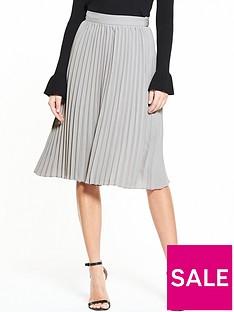 lost-ink-pleated-tie-waist-skirt-light-grey