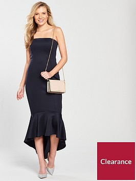 ax-paris-bandeau-flute-hem-midi-dress-navy