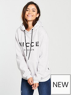 nicce-ladies-original-logo-hooded-sweat-grey