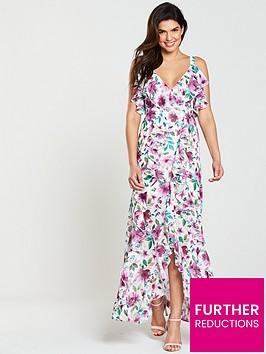 v-by-very-printed-frill-maxi-dress