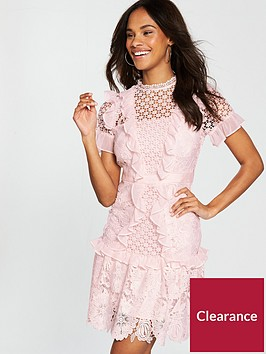 v-by-very-premium-mixed-lace-a-line-frill-dress-blush