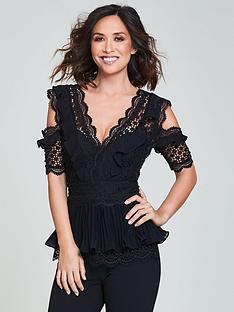 myleene-klass-premium-mixed-lace-jumpsuit-black