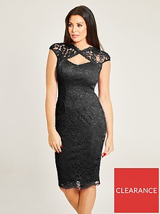 bcf70c8017 Jessica Wright Rylee Sleeveless Lace Midi Dress