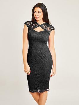 Jessica Wright Rylee Sleeveless Lace Midi Dress