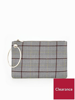 v-by-very-circle-handle-check-clutch-bag-blackwhite