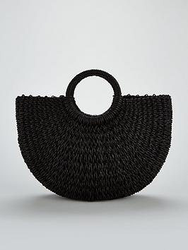 v-by-very-circle-handle-straw-beach-bag-black