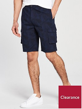v-by-very-printed-cargo-shorts-navy