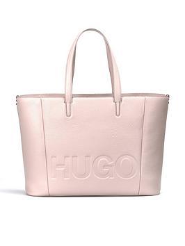 hugo-mayfair-large-logo-leather-shopper-tote-bag-pink