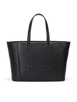 hugo-hugo-bossnbspmayfair-large-logo-leather-shopper-tote-bag-black