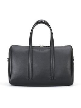 hugo-boss-taylornbspduffle-leather-bag-black