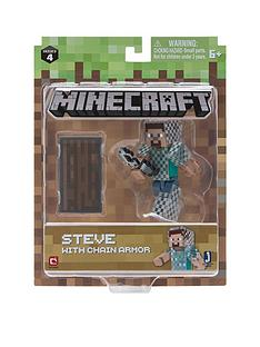 minecraft-minecraft-minecraft-3quot-action-figures-steve-in-chain-armour