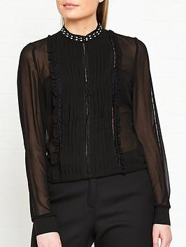 guess-genevieve-jewelled-collar-and-frill-detail-blousenbsp--black
