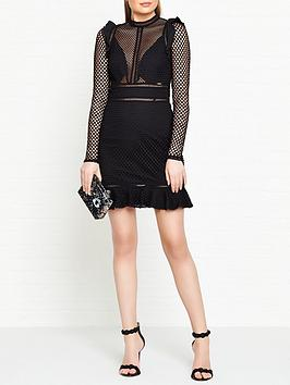 guess-jacqueline-long-sleeve-mesh-dress-black