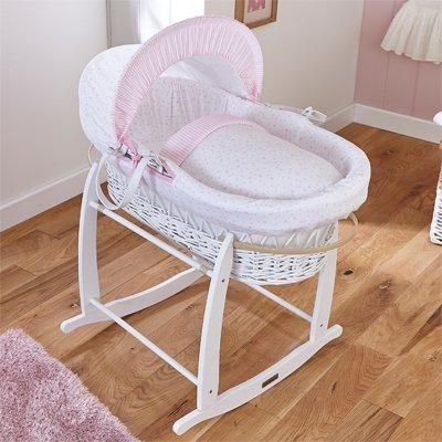 Clair De Lune Moses Basket Grey And Blue Wicker Suitable For Men And Women Of All Ages In All Seasons Baby Bassinets & Cradles