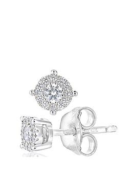 love-diamond-love-diamond-9ct-white-gold-20-point-diamond-50-point-look-solitaire-cluster-earrings