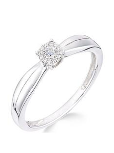 love-diamond-love-diamond-9ct-white-gold-10-point-diamond-25-point-look-solitaire-cluster-ring