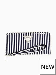 guess-sawyer-large-purse-blue-stripe