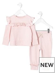 river-island-mini-girls-light-pink-frill-sweatshirt-outfit