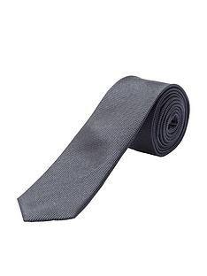 selected-homme-textured-plain-silk-tie