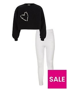 river-island-girls-black-embellished-crop-sweatshirt-oufit