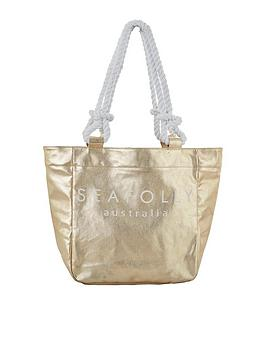 seafolly-seafolly-carried-away-silver-pineapple-beach-tote-bag