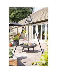 la-hacienda-tripod-outdoor-cookerheater-with-adjustable-height-grill