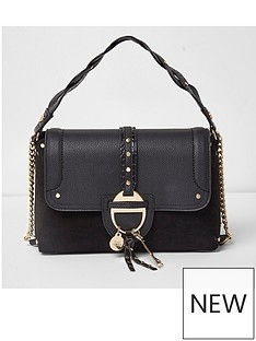 river-island-river-island-black-western-metal-front-cross-body-bag