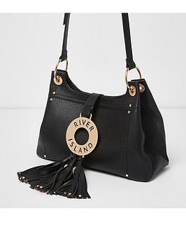 river-island-river-island-black-hoop-front-tassel-cross-body-bag
