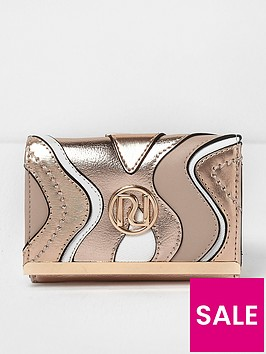 river-island-river-island-rose-gold-mini-cliptop-purse