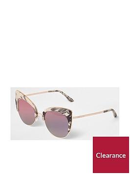 river-island-river-island-marble-print-cat-eye-sunglasses