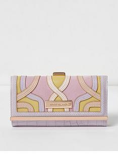 river-island-river-island-croc-embossed-cutabout-clip-top-purse--pink
