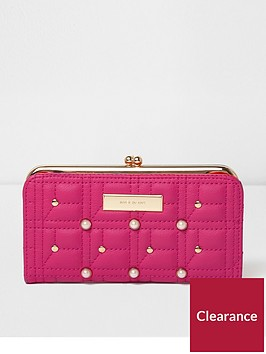 river-island-river-island-pink-pearl-and-quilt-cliptop-purse