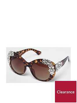 river-island-river-island-embellished-cat-eye-brown-sunglasses