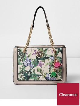 river-island-river-island-floral-leaf-print-charm-tote-bag