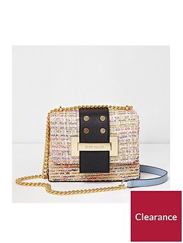 river-island-river-island-tweed-mini-tab-cross-body-bag
