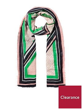 river-island-green-pink-stripe-scarf