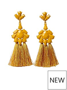 river-island-river-island-mustard-enamel-tassel-dangle-earrings