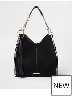 river-island-river-island-black-chain-side-slouch-bag