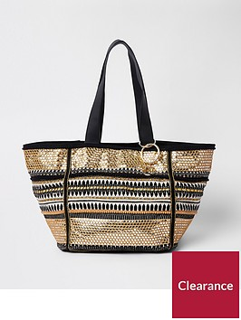 river-island-river-island-black-mix-oversized-winged-beach-bag
