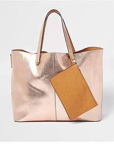 river-island-river-island-reversible-rose-gold-beach-bag