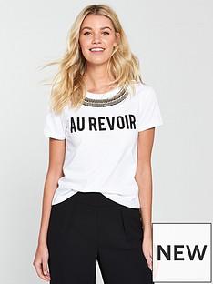 v-by-very-au-revoirnbspembellished-slogan-t-shirt