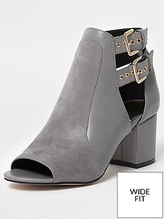 river-island-river-island-wide-fit-buckle-peep-toe-shoe-boot--grey