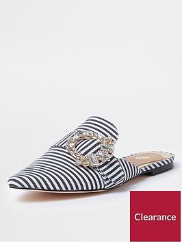 river-island-blue-stripe-embellished-mules