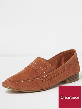 river-island-suede-rust-loafers