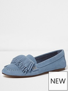 river-island-fringe-loafers-blue