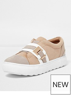 river-island-river-island-croc-strap-buckle-slip-on-plimsolls--neutral