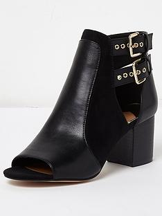 river-island-buckle-shoe-boot--black