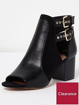 river-island-buckle-shoe-boot--black