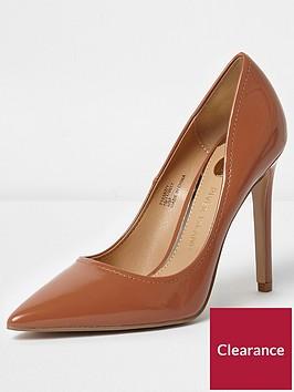 river-island-river-island-patent-court-high-heels--tan