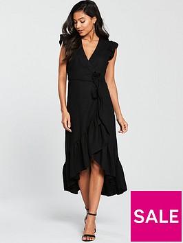 v-by-very-linen-wrap-midi-dress